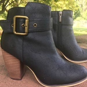 Black and Tan booties